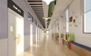 150平幼儿园走廊吊顶效果图案例