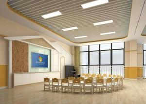 115平幼儿园走廊吊顶修效果图