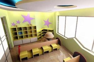 100平幼儿园走廊吊顶室内设计图片大全