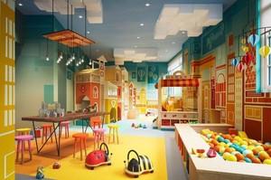 117平幼儿园走廊吊顶装修效果图