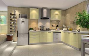 180平房子玫瑰金廚房櫥柜裝修效果圖