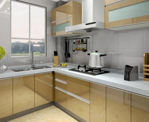 145平米房子玻璃烤漆櫥柜門裝修效果圖