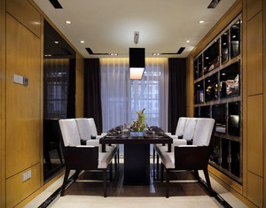 132平米餐廳二級天花板吊頂裝修效果圖