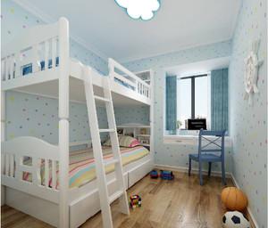 86平房子简欧儿童房吊顶装修效果图