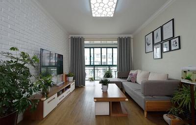130平米房子简欧客厅不吊顶装修效果图
