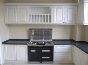 155平房子廚房集成灶櫥柜裝修效果圖