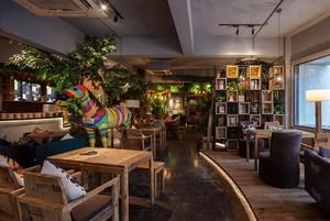 168平米森系咖啡厅平面装修效果图