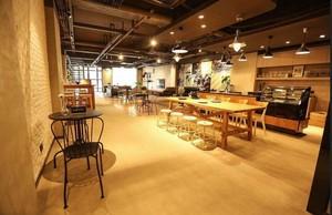 250平米简约风咖啡厅平面装修效果图