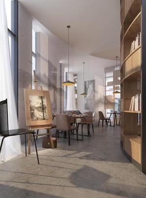 136平米小型咖啡厅平面装修效果图