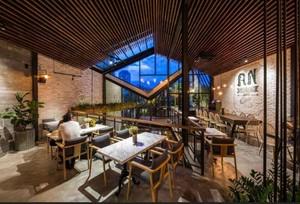 380平米挑空咖啡厅平面装修效果图