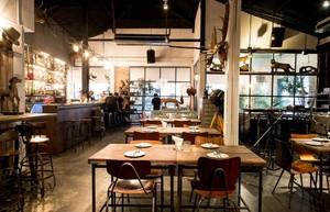 159平米简约风格咖啡厅平面装修效果图