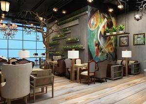200平米咖啡厅平面装修效果图