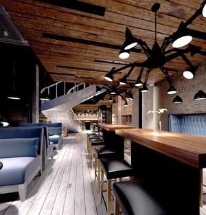 10平米咖啡厅平面装修效果图