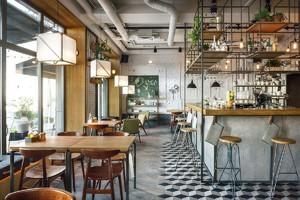 150平米咖啡厅平面装修效果图