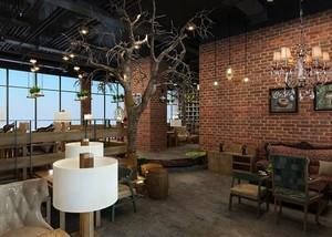 140平米咖啡厅平面装修效果图