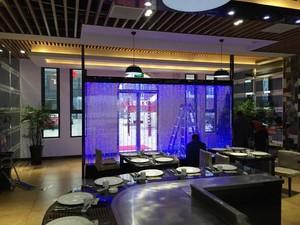 新中式飯店水幕墻裝修效果圖