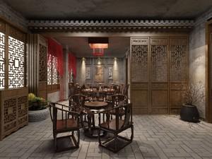 300平米中式餐馆装修效果图