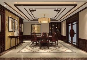 500平米中式餐馆装修效果图