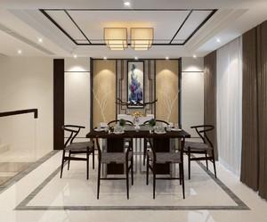 350平米中式餐馆装修效果图