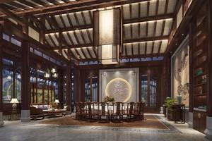 750平米中式餐馆装修效果图