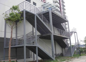上千平米大型工廠鋼架樓梯裝修效果圖