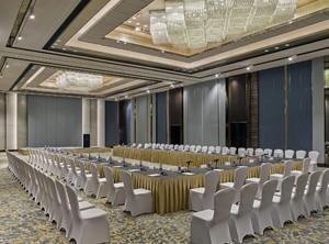 500平新中式風格酒店隔斷裝修效果圖