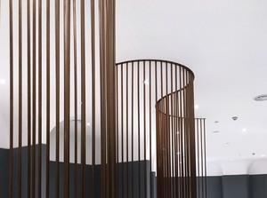 1000平米商场现代风格弧形隔断装修效果图