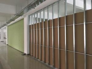 600平米办公室工业风格轻钢龙骨隔断装修效果图