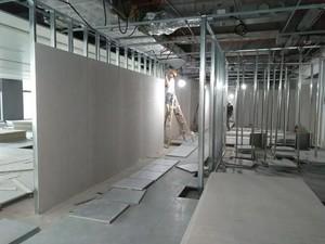 750平米办公室工业风格轻钢龙骨隔断装修效果图