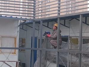 850平米办公室工业风格轻钢龙骨隔断装修效果图