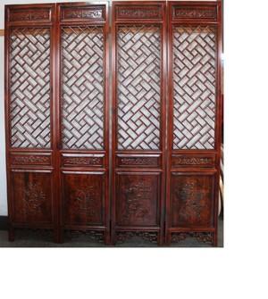 600平米餐馆中式风格木雕隔断装修效果图