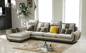134平米三居室現代風格客廳u型沙發裝修效果圖