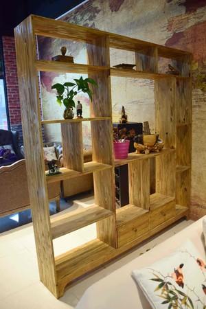 130平米兩居室復古風格藝術隔斷裝修效果圖