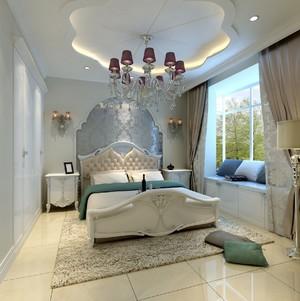 90平米卧室双层石膏板吊顶效果图