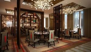 中式飯店石膏板吊頂圖片