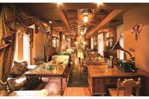 美式飯店石膏板吊頂圖片