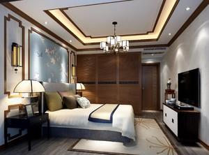两居室新中式客房天花吊顶效果图