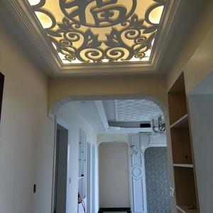 60平米公寓古典風格玄關走廊吊頂花格裝飾圖