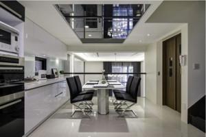 一居室現代簡約鏡面玄關吊頂裝修效果圖