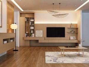95平米客廳電視柜背景墻裝修效果圖