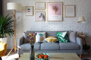 90平米客廳背景墻裝飾畫裝修效果圖