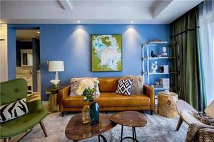 兩居室客廳背景墻裝飾畫裝修效果圖