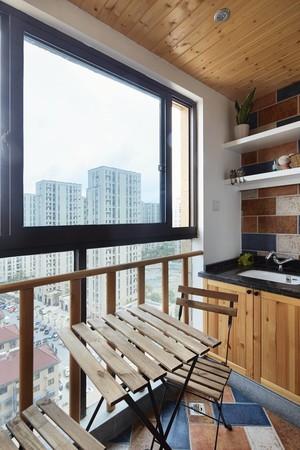 120平米跃层阳台杉木板吊顶装修效果图