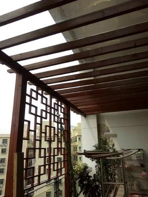 180平米跃层阳台杉木板吊顶装修效果图