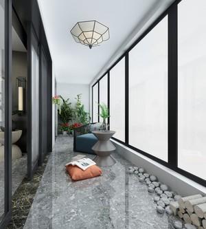 110平米房屋新中式阳台吊顶装修效果图