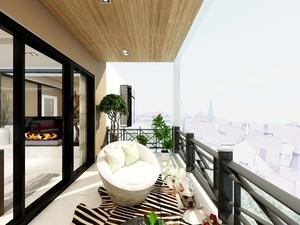 150平米房屋新中式阳台吊顶装修效果图