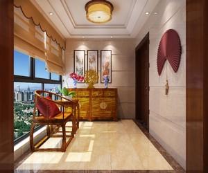 85平方房子新中式阳台吊顶装修效果图