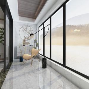90平的房子新中式阳台吊顶装修效果图