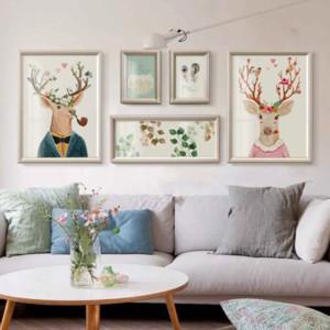 120平米大户型客厅背景墙挂画装修效果图