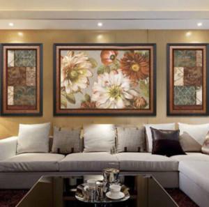 130平米大户型美式客厅背景墙挂画装修效果图